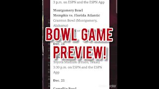 2020/21 BOWL GAMES PREVIEW
