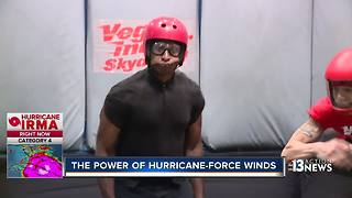 Vegas Indoor Skydiving gives glimpse of hurricane-force winds