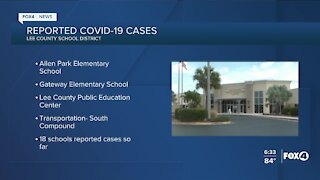 Reported COVID-19 cases in Lee County Schools