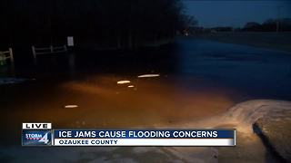 Ice jams cause flooding concerns in Ozaukee County