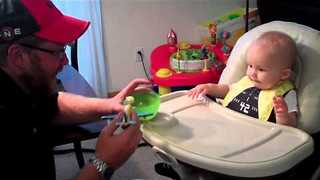 Little Boy Love His Airplane Spoon - Video
