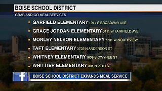 Boise School District expanding sack meals starting March 30