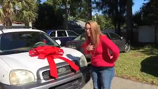 Couple donates SUV to homeless mother in Stuart