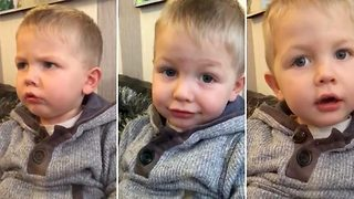 Sweary christmas: Hilarious moment toddler drops f-bomb when mum tells him santa is coming to his house