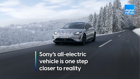 The Vision-S is Sony's all-electric prototype car
