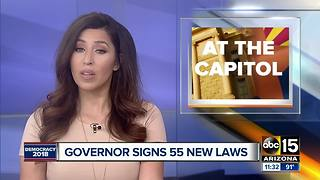 Governor Doug Ducey signs 55 laws, vetoes 7 others - Video