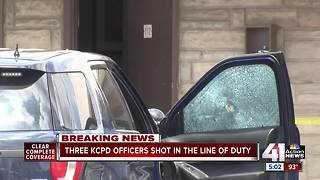 Three KCPD shot, suspect killed in gunfire exchange - Video