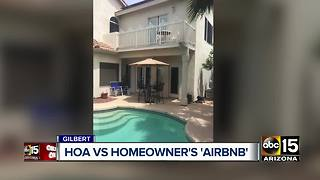 Gilbert woman battling HOA over AirBnB rental - Video