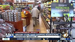 Grocery store takes shopping reservations