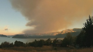 Timelapse Shows Out-of-Control Bushfire in Port Hills, Residents Ordered to Evacuate - Video