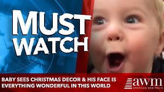 Baby Sees Christmas Decor & His Face Is Everything Wonderful In This World - Video