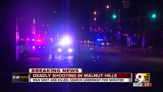 Deadly shooting in Walnut Hills
