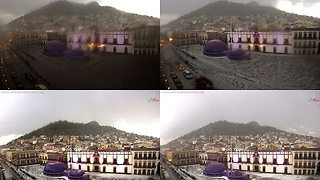 Unusual Hailstorm Blankets Mexican City With Ice - Video