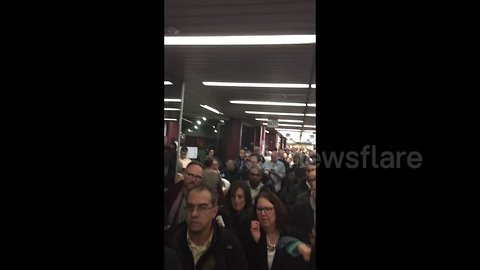 Port Authority Bus Terminal closed due to overcrowding as snowstorm strikes