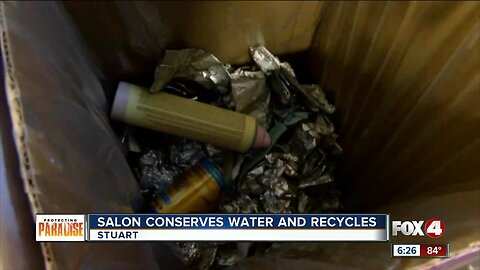 Salon conserves water and recycles