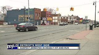 Suspect arrested in deadly hit-and-run on Detroit's west side