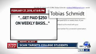 Scammers target college students looking for summer jobs - Video