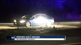 Speeding wrong way driver stopped on I-43