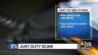 SCAM ALERT: 'MCSO official' claims woman didn't show up for jury duty - Video