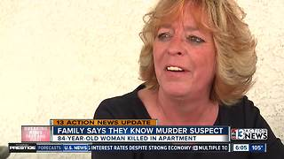 Family says they know suspect who killed elderly woman - Video