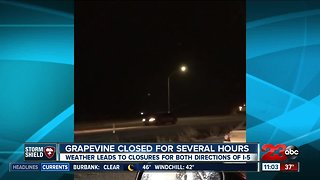 Grapevine closed for several hours