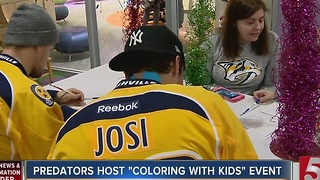 Preds Color With Kids For The Holidays - Video