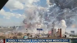 Deadly fireworks explosion near Mexico City - Video