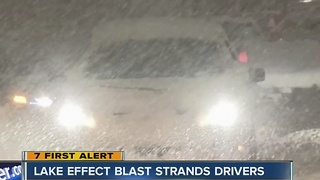 Lake snow causes huge backups in South Towns - Video