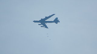B-52 Dropping Bombs on Oklahoma - Video