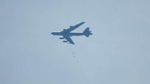 B-52 Dropping Bombs on Oklahoma