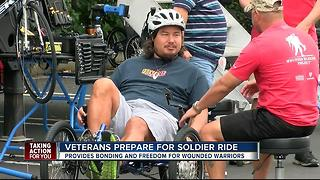 Wounded veterans prepare to bike 30-mile Soldier Ride - Video