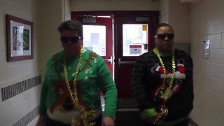Madison Heights school principals surprise students with funny Winter Break send-off