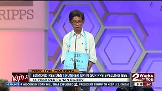 14-yo Edmond resident runner up in Spelling Bee