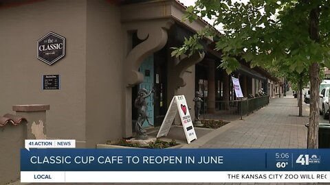 Classic Cup cafe to reopen in June