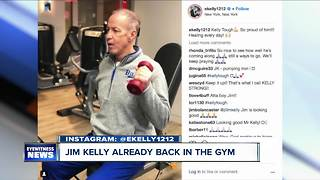 Jim Kelly proves he's Kelly Tough - Video