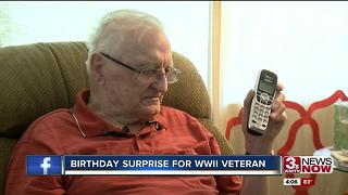 WWII veteran receives call from old division 4p.m. - Video