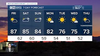 More clouds, lower temperatures in the forecast