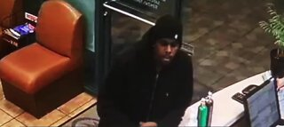 Las Vegas police look for robbery suspect