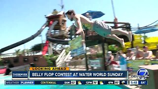 Belly flop contest at Water World
