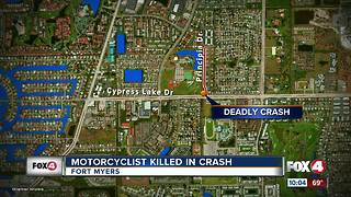 Motorcyclist Killed in Crash - Video