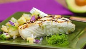 Grilled White Fish with Avocado Relish - Video