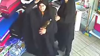 Two Women Shoplifting on Textile Shop Caught on CCTV - Video