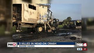 Three dead, several others injured in head-on crash in Glades County - Video