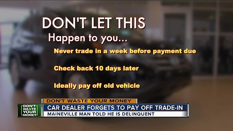 Car dealer forgets to pay off trade-in