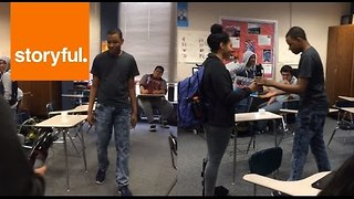 Special Needs Student Receives Balloons and Cake During Promposal - Video