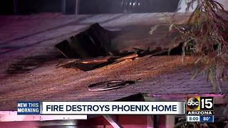 Phoenix home destroyed in fire - Video