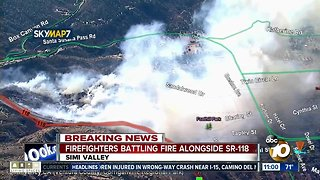 Peak Fire breaks out in Simi Valley