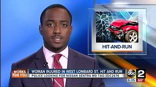 71-year-old woman struck by car in hit-and-run accident - Video