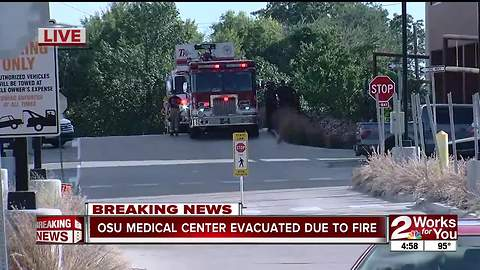 OSU Medical Center evacuated due to fire