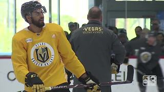 Golden Knights return to practice after first round sweep - Video